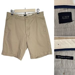 J. Crew Men Khaki Shorts Size 32W